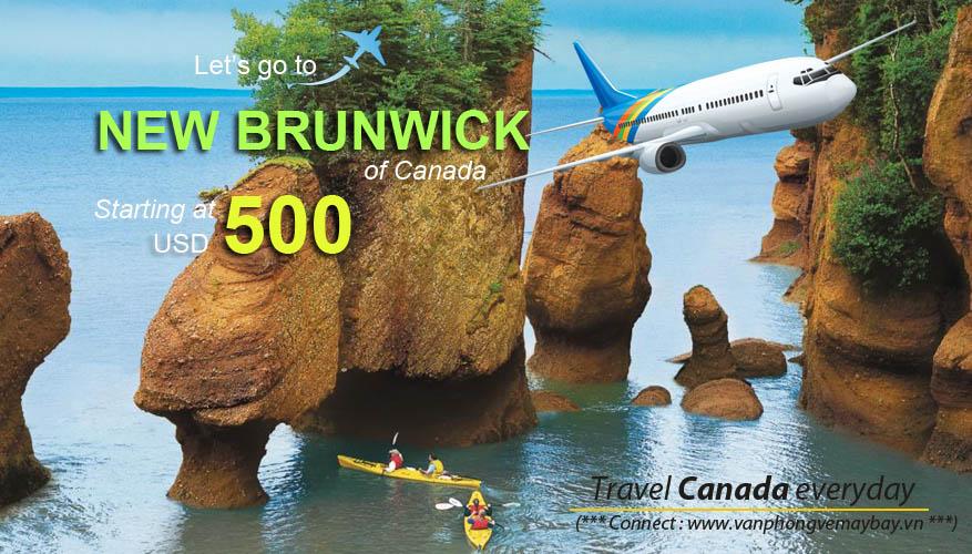 Đặt vé máy bay đi New Brunswick (Canada) giá rẻ