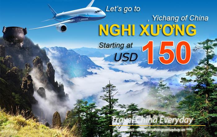 Đặt vé máy bay đi Nghi Xương (Yichang) giá rẻ
