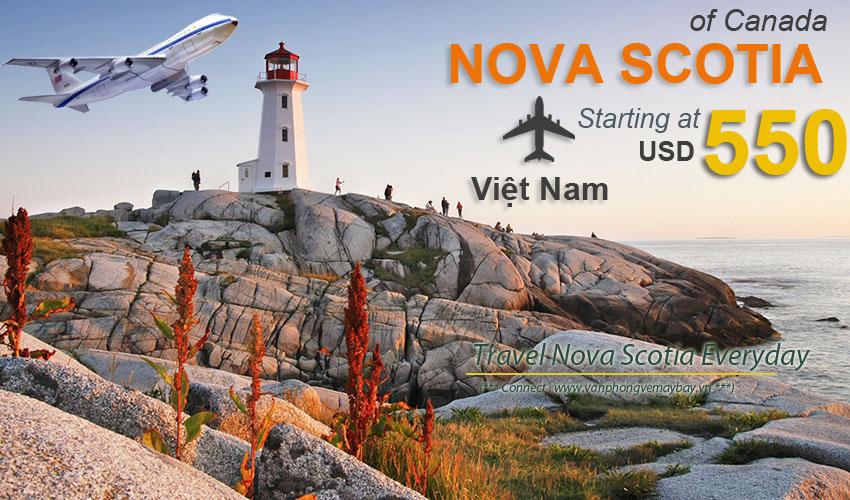 Đặt vé máy bay đi Nova Scotia (Canada) giá rẻ