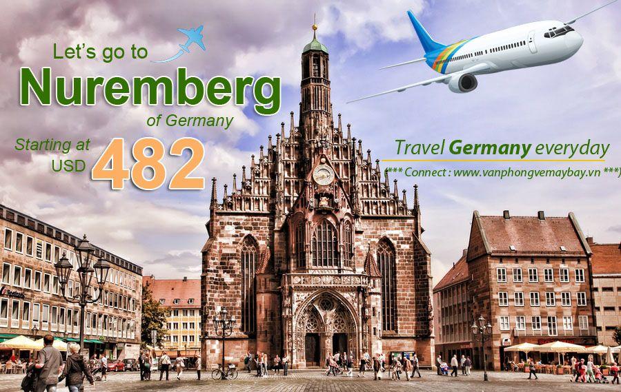 Đặt vé máy bay đi Nuremberg (Đức) giá rẻ