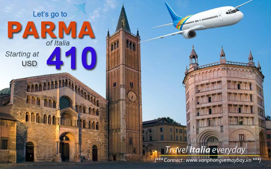 Đặt vé máy bay đi Parma (Italia) giá rẻ