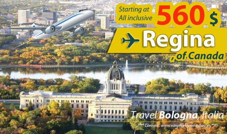 Đặt vé máy bay đi Regina (Canada) giá rẻ