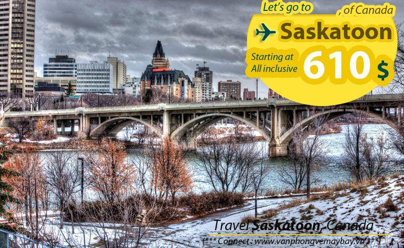 Đặt vé máy bay đi Saskatoon (Canada) giá rẻ
