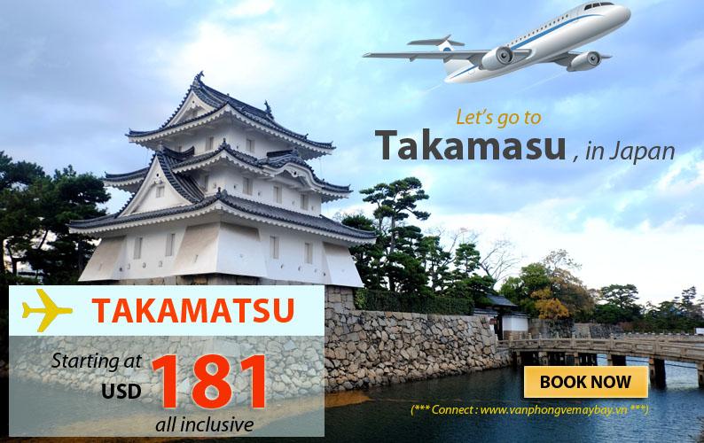 Đặt vé máy bay đi Takamatsu (Nhật Bản) giá rẻ
