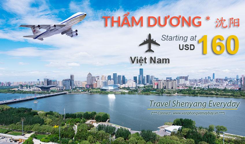 Đặt vé máy bay đi Thẩm Dương (Shenyang) giá rẻ