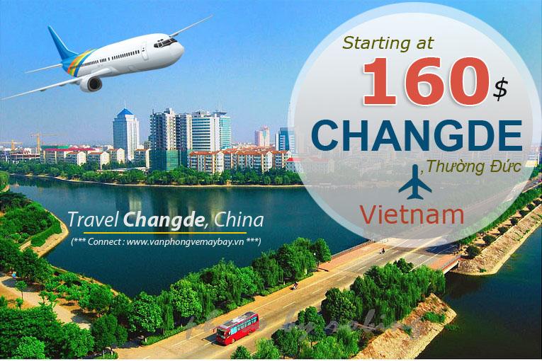 Đặt vé máy bay đi Thường Đức (Changde) giá rẻ