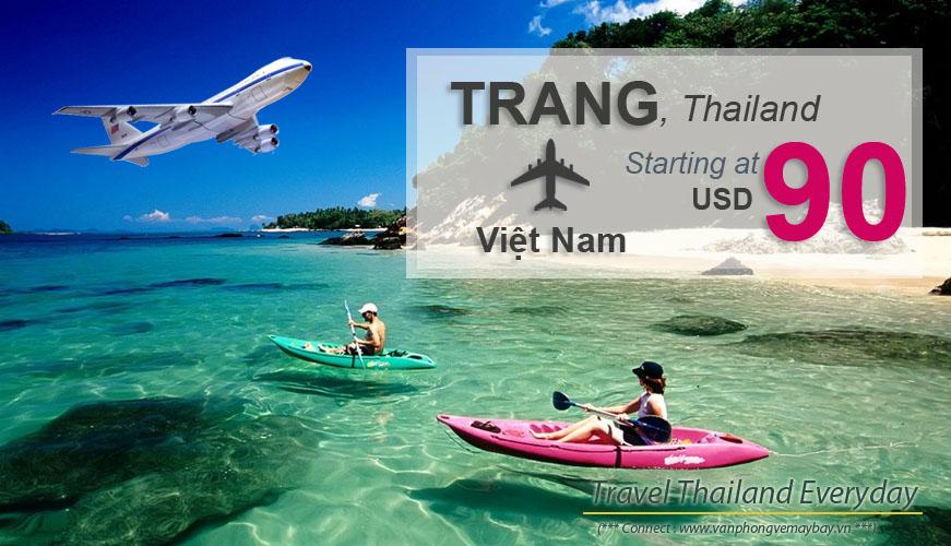 Đặt vé máy bay đi Trang (Thái Lan) giá rẻ