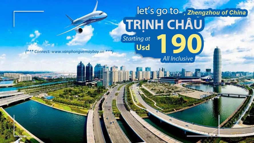 Vé máy bay đi Trịnh Châu giá rẻ