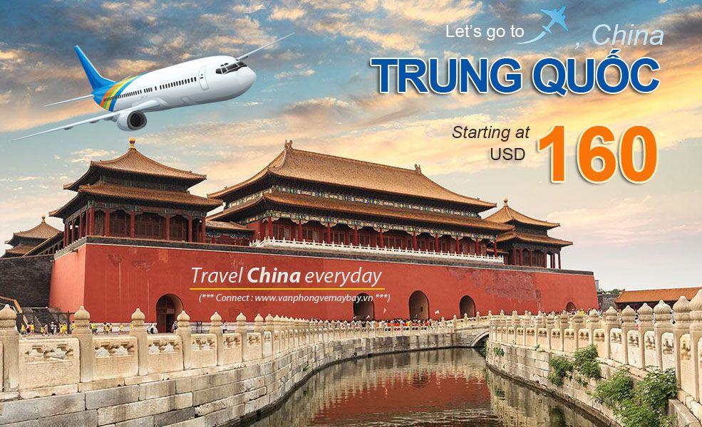 Đặt vé máy bay đi Trung Quốc (China) giá rẻ