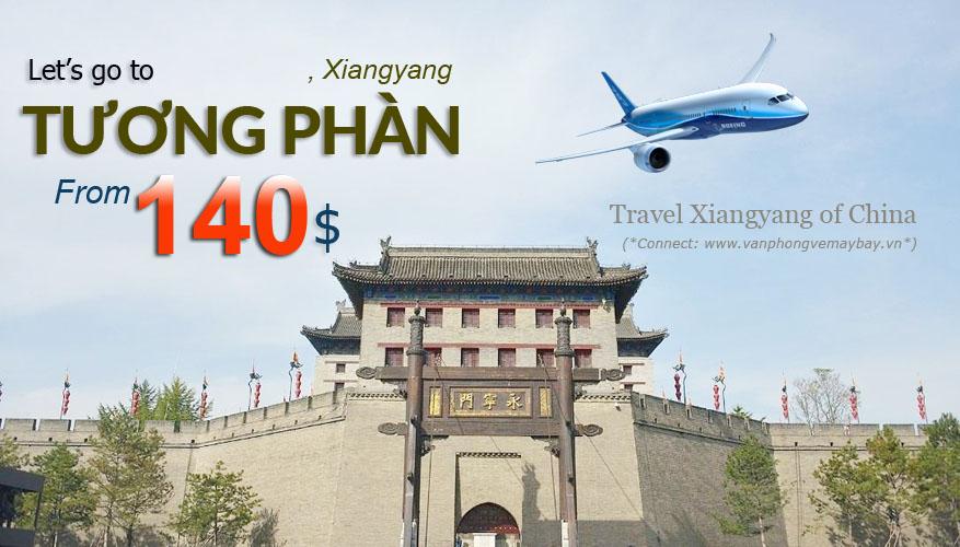Đặt vé máy bay đi Tương Phàn (Xiangyang) giá rẻ
