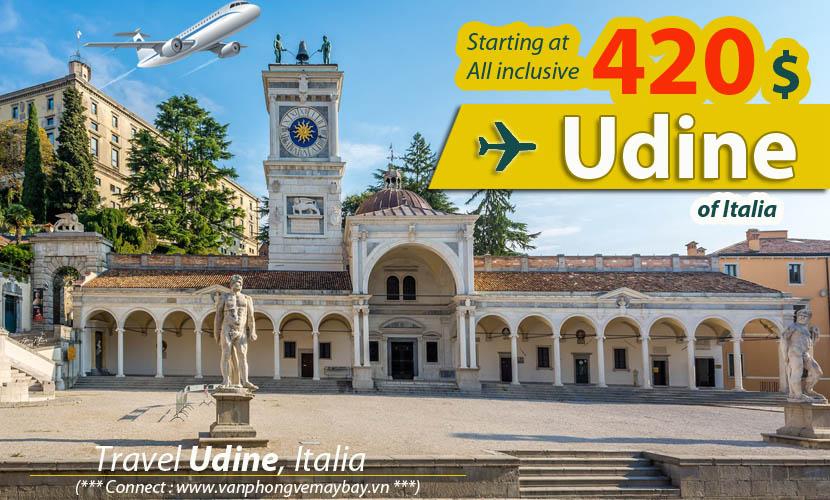 Đặt vé máy bay đi Udine (Italia) giá rẻ