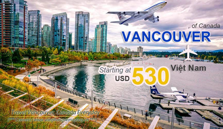 Đặt vé máy bay đi Vancouver (Canada) giá rẻ