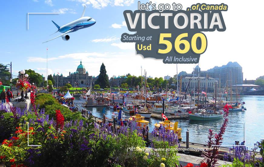 Đặt vé máy bay đi Victoria (Canada) giá rẻ