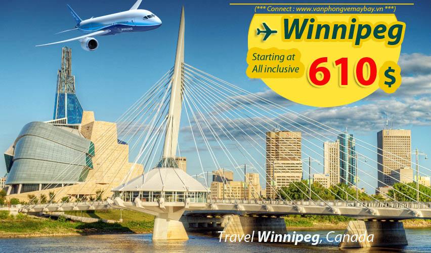 Đặt vé máy bay đi Winnipeg (Canada) giá rẻ