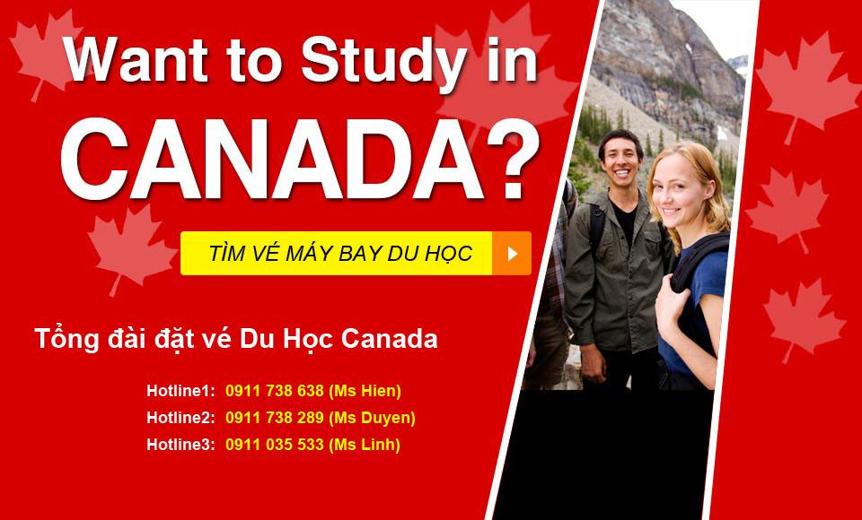 Vé máy bay du học Canada giá rẻ