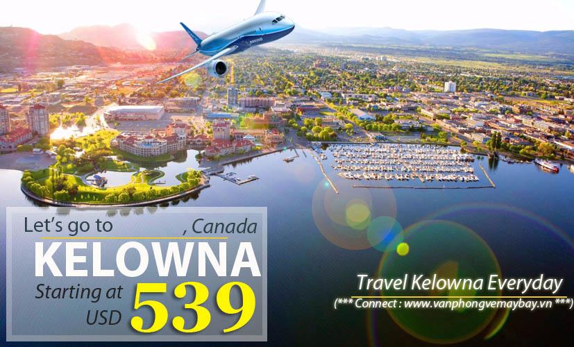 Đặt vé máy bay đi Kelowna (Canada) giá rẻ
