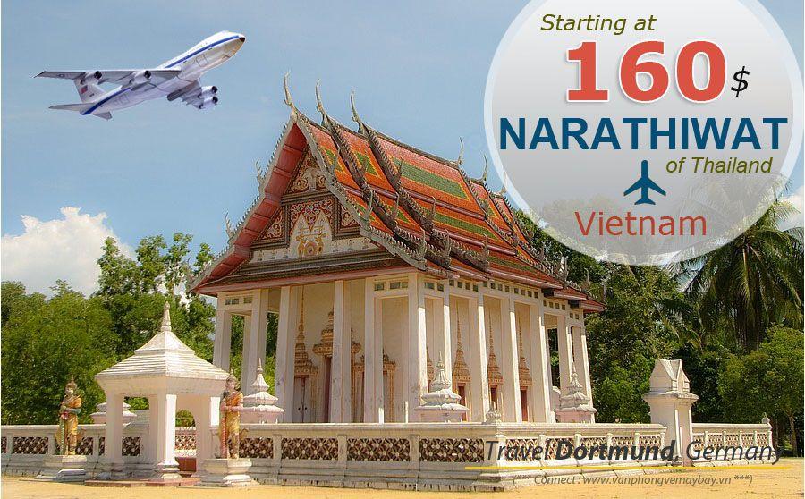 Đặt vé máy bay đi Narathiwat (Thái Lan) giá rẻ