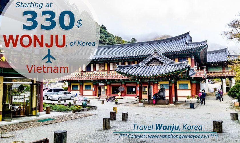 Đặt vé máy bay đi Wonju (Hàn Quốc) giá rẻ