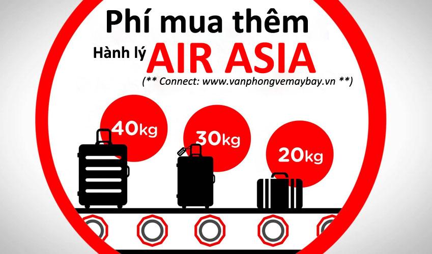 Cách tính giá phí mua thêm hành lý ký gửi Air Asia