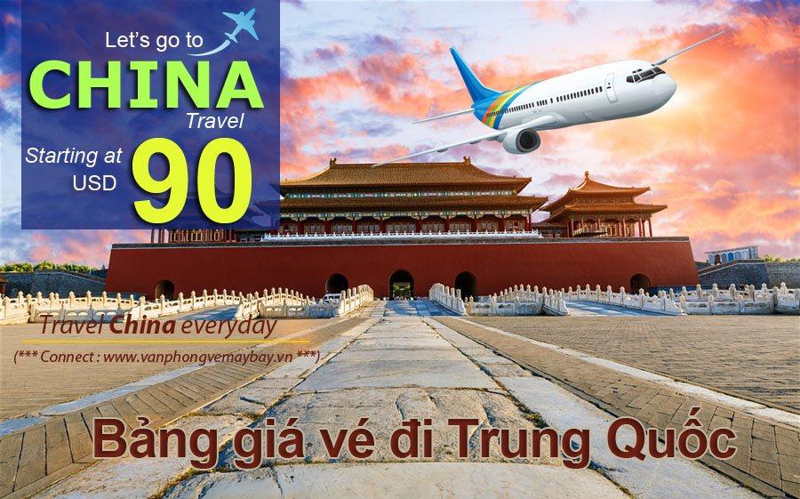 Giá vé máy bay đi Trung Quốc
