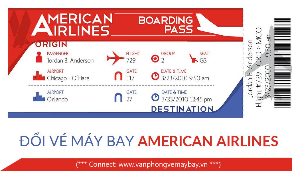 Đổi vé máy bay American Airlines