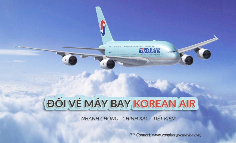 Đổi vé máy bay Korean Air