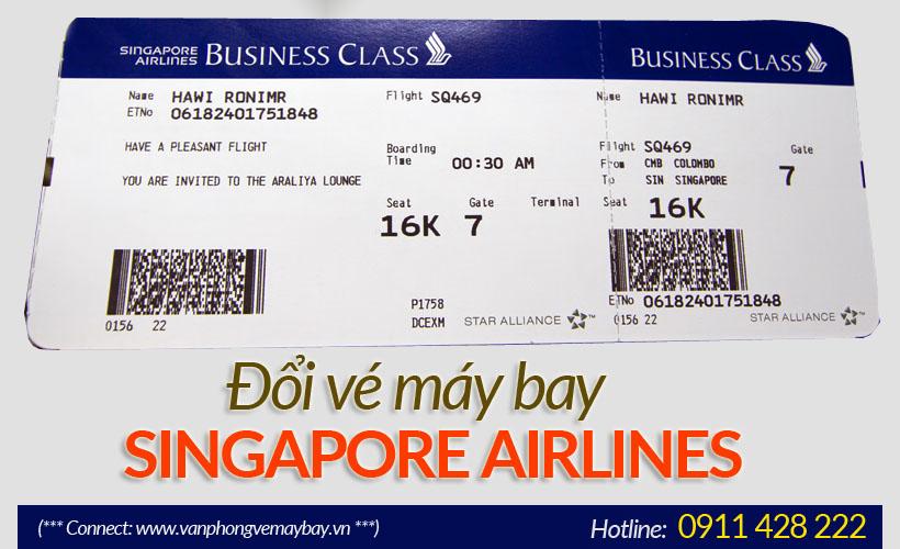 Hoàn đổi vé máy bay Singapore Airlines