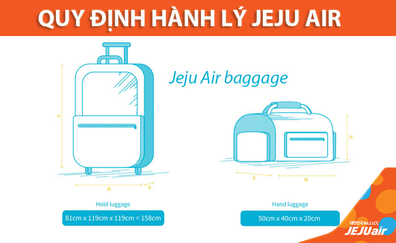 Quy định hành lý Jeju Air