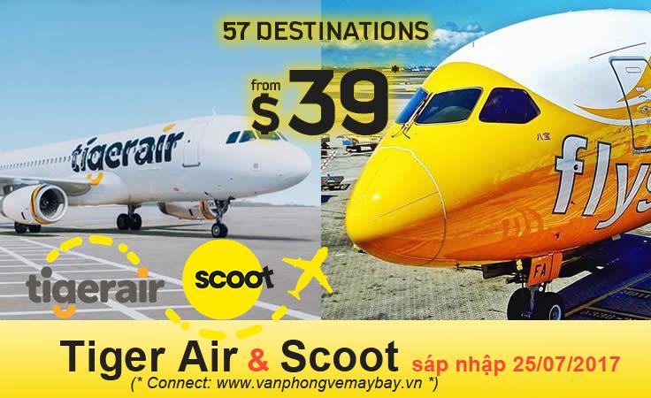 Thông tin chính thức Tiger Air sáp nhập Scoot
