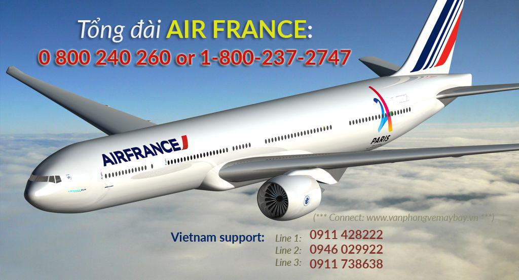 Số điện thoại tổng đài đặt vé Air France