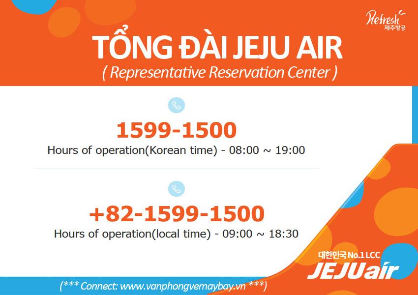So dien thoai tong dai Jeju Air
