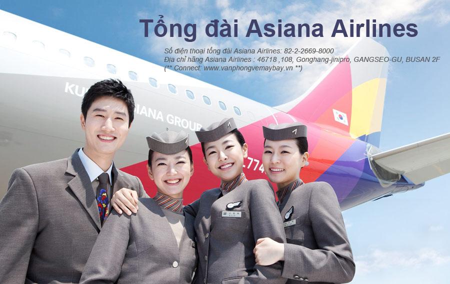 Số điện thoại tổng đài đặt vé Asiana Airlines