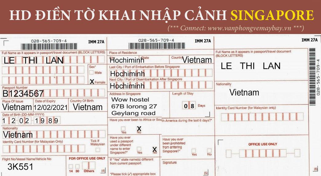 To khai nhap canh Singapore