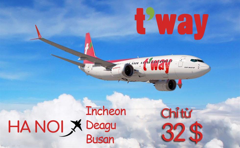 Văn phòng bán vé T'way Air tại Hà Nội