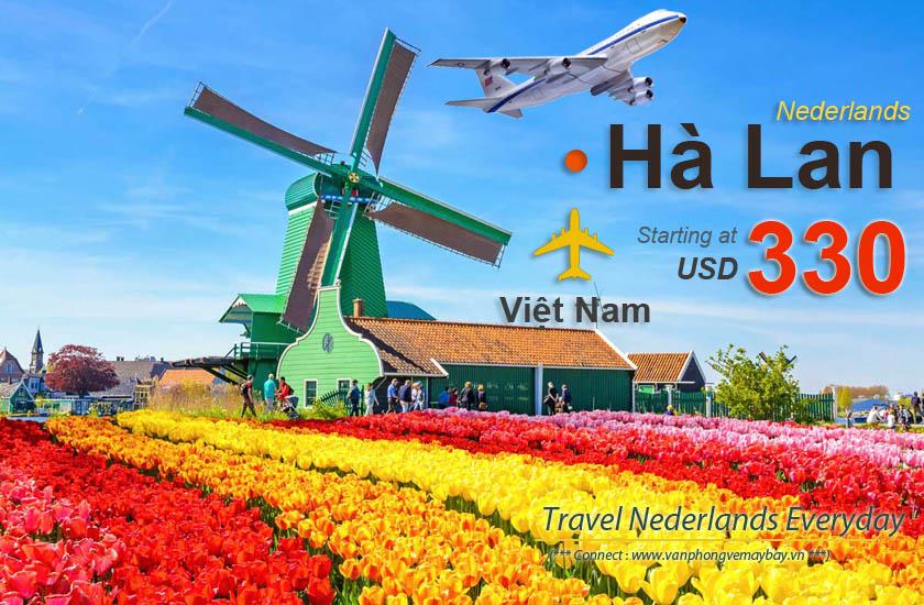 Vé máy bay đi Hà Lan giá rẻ