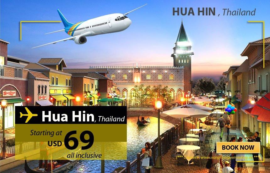 Đặt vé máy bay đi Hua Hin (Thái Lan) giá rẻ