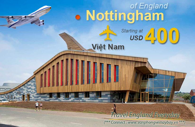 Đặt vé máy bay đi Nottingham (Anh) giá rẻ