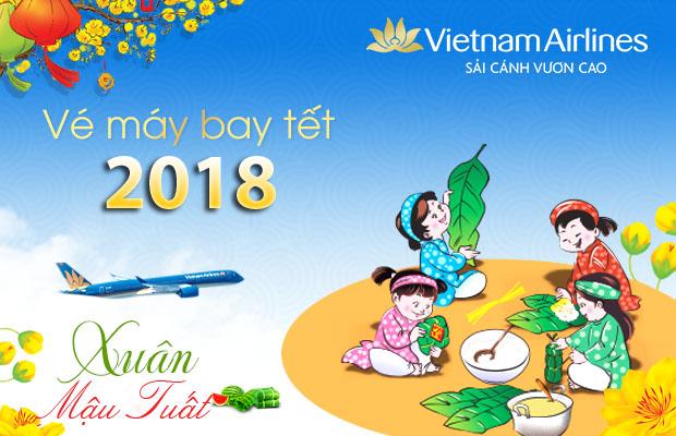 Đặt vé tết 2018 hãng Vietnam Airlines