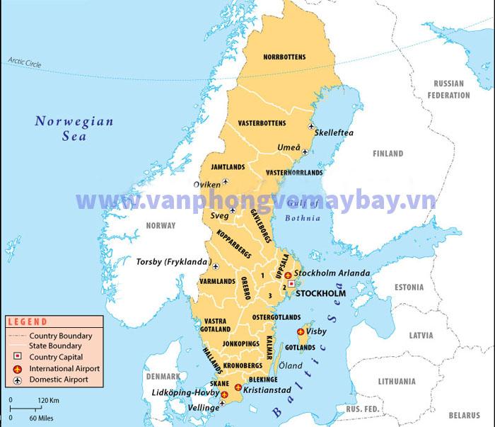 Danh sách các sân bay tại Thụy Điển (Sweden)