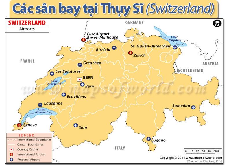 Các sân bay ở Thụy Sĩ