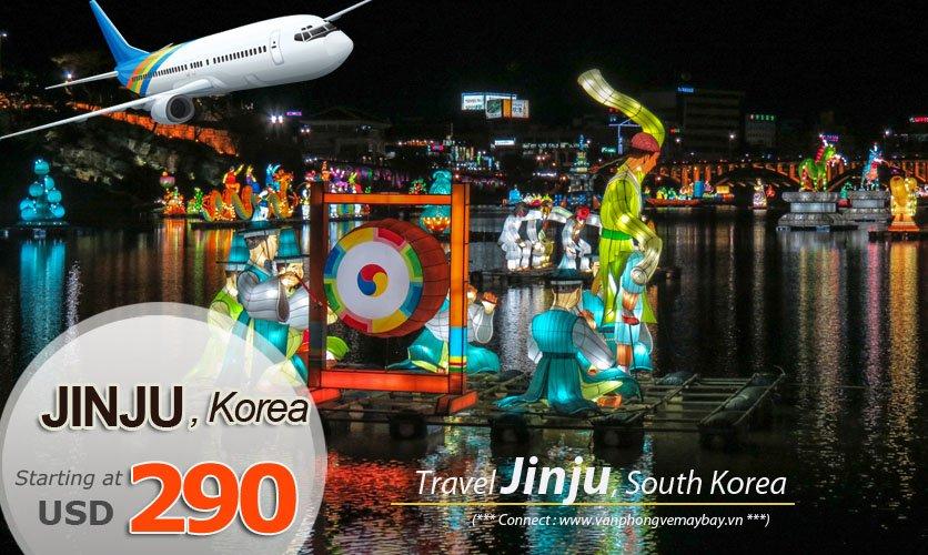 Đặt vé máy bay đi Jinju (Hàn Quốc) giá rẻ