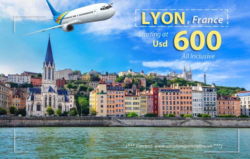 Vé máy bay đi Lyon (Pháp)