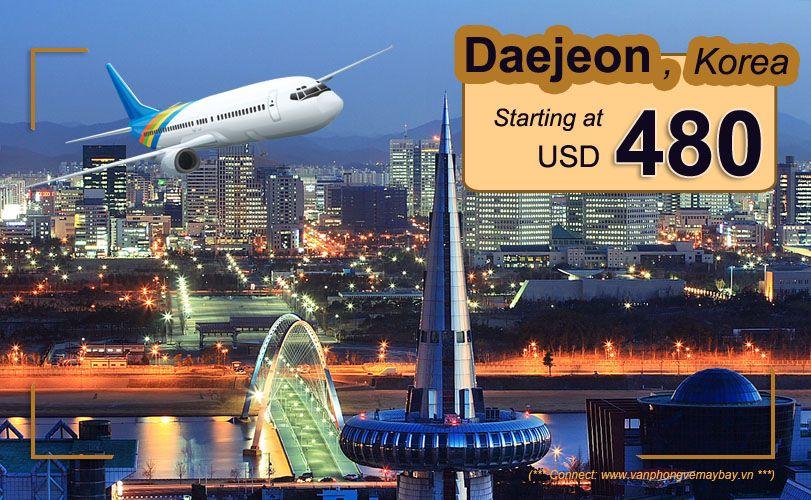 Đặt vé máy bay đi Daejeon (Hàn Quốc) giá rẻ