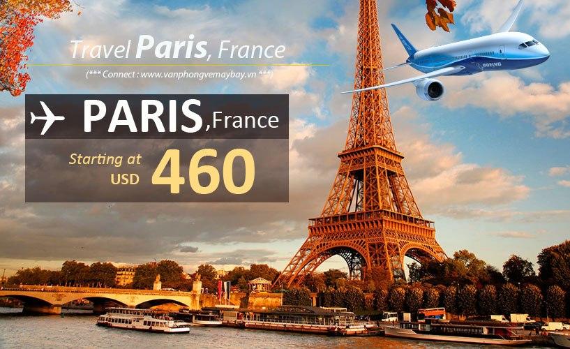 Đặt vé máy bay đi Paris (Pháp) giá rẻ