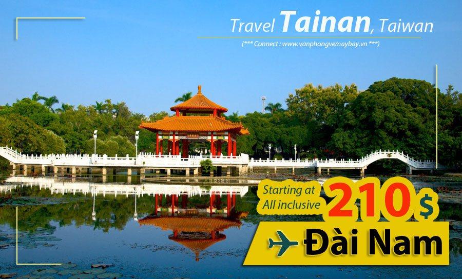 Đặt vé máy bay đi Đài Nam (Tainan) giá rẻ