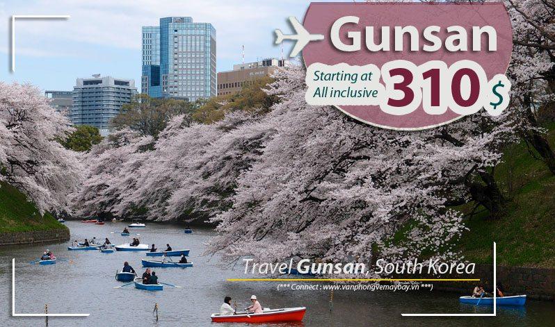 Đặt vé máy bay đi Gunsan (Hàn Quốc) giá rẻ