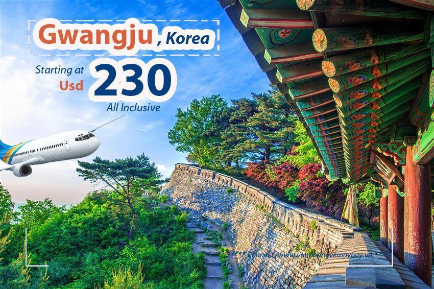 Đặt vé máy bay đi Gwangju (Hàn Quốc) giá rẻ
