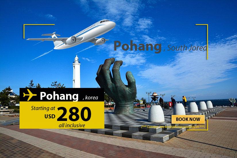 Đặt vé máy bay đi Pohang (Hàn Quốc) giá rẻ