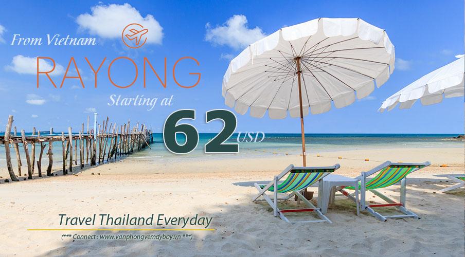 Đặt vé máy bay đi Rayong (Thái Lan) giá rẻ