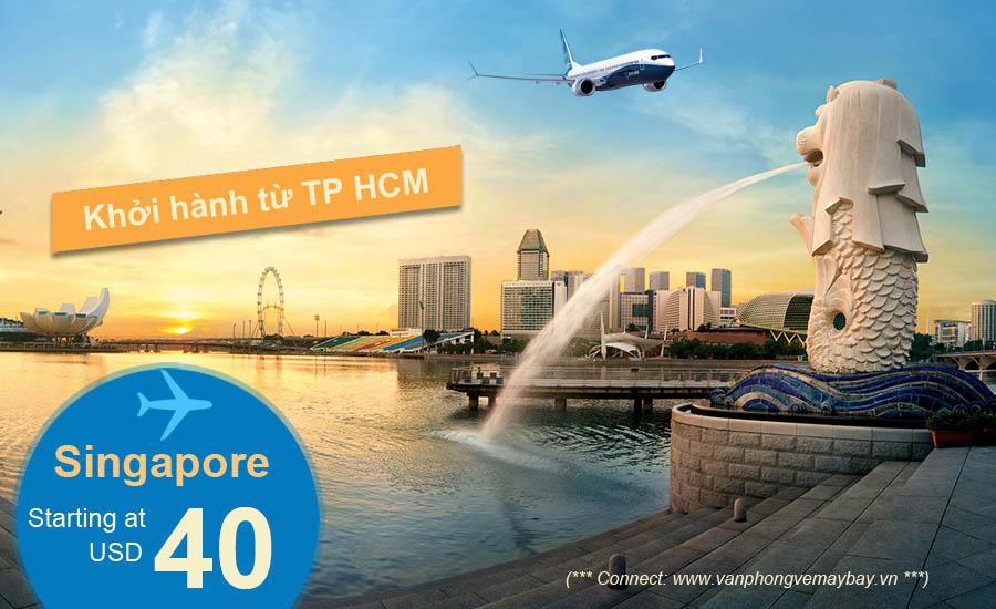 Đặt mua vé máy bay đi Singapore giá rẻ